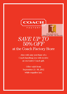 Coach Factory Store Sale Offer 2012