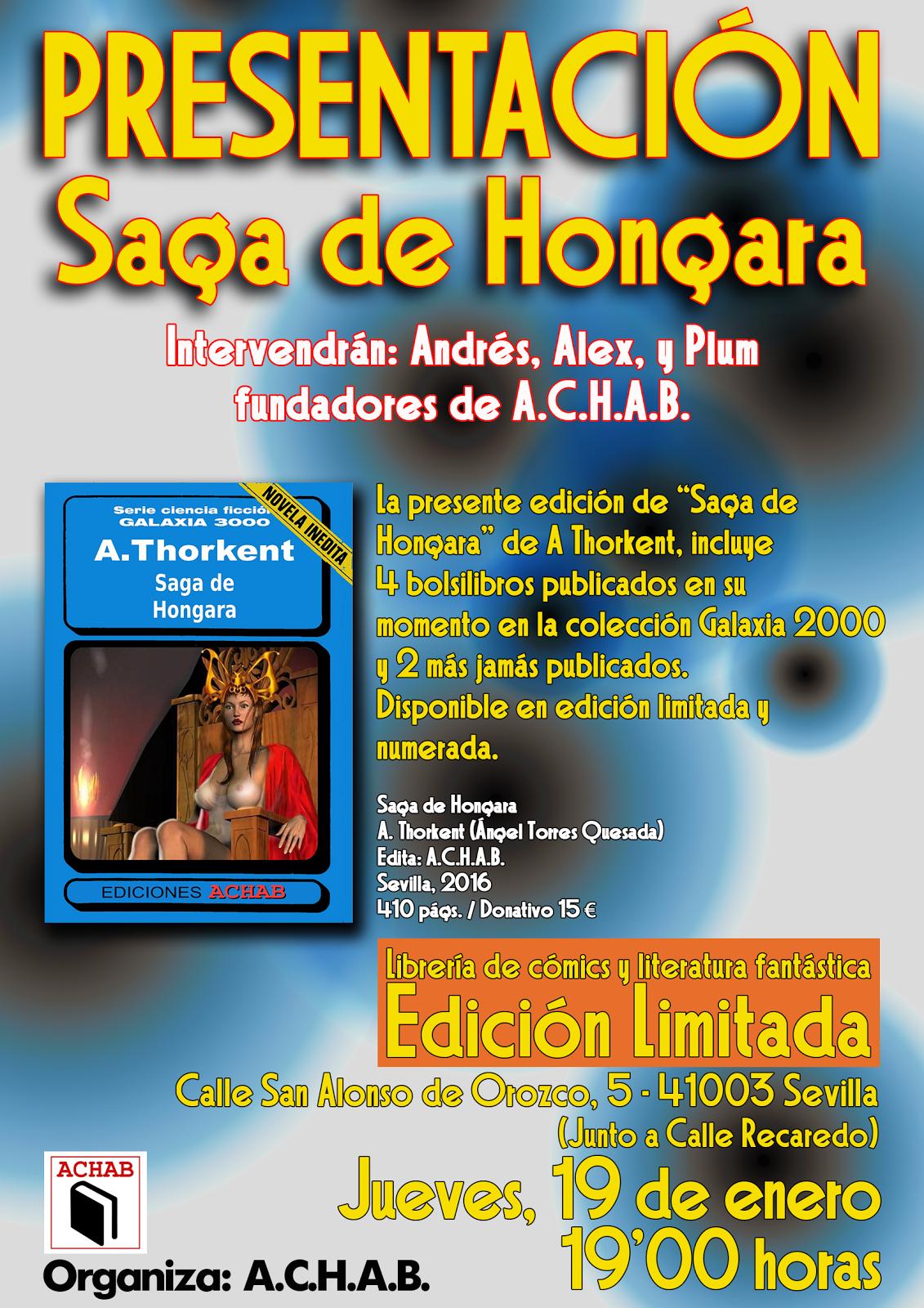 """PRESENTACIÓN DEL LIBRO """"SAGA DE HONGARAA"""""""