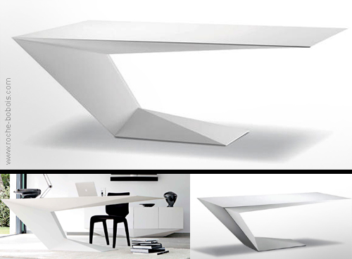 Furtif desk. Aircraft principles by Roche Bobois