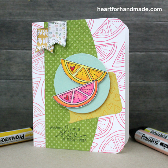 Sweet Citrus Card by Ria Montefalcon for Newton's Nook Designs | Sweet Summer Stamp Set