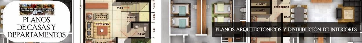 Planos de Casas y Plantas Arquitectónicas de Casas y Departamentos