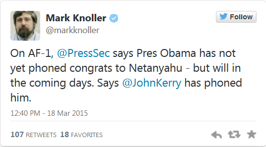 http://twitchy.com/2015/03/18/too-busy-pouting-josh-earnest-kerry-not-obama-called-to-congratulate-bibi/