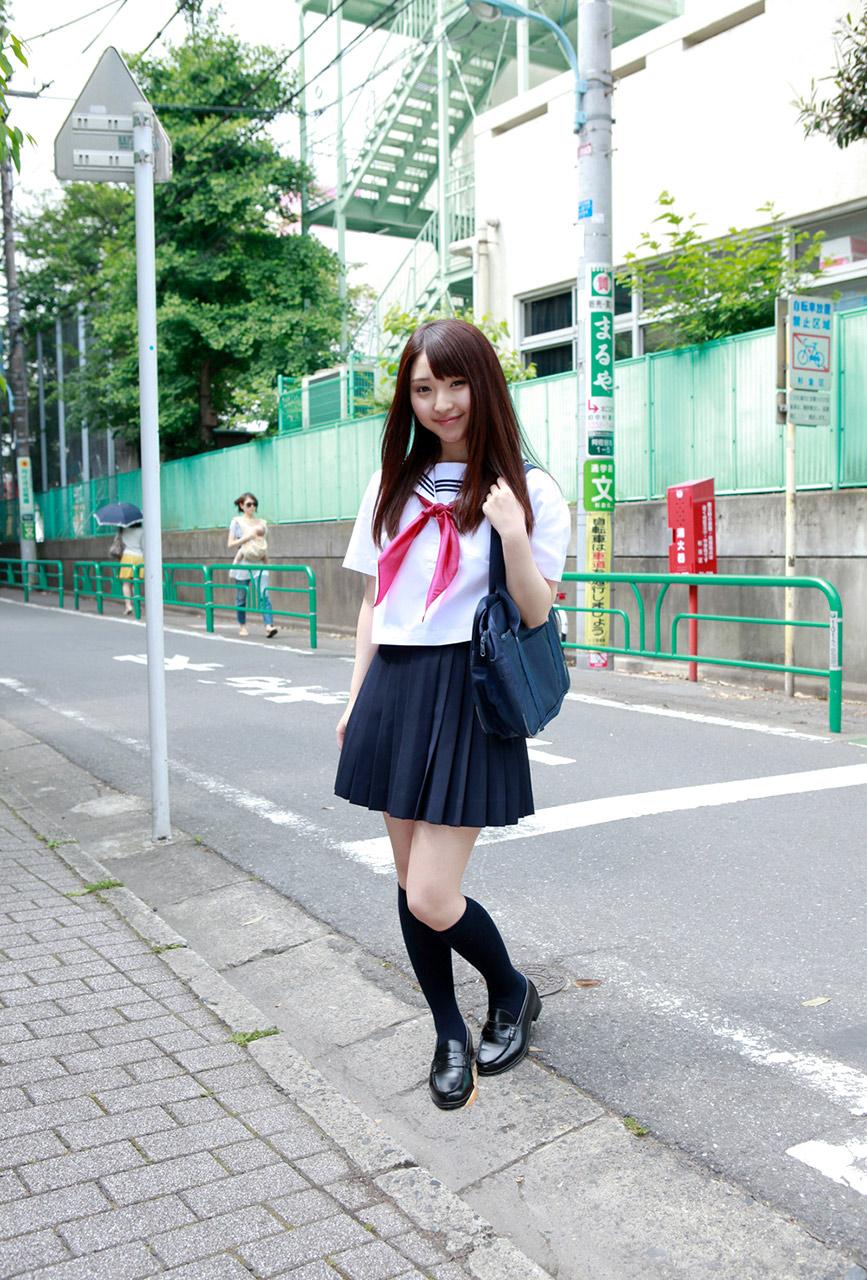 Cute Japanese School Girl Cosplay