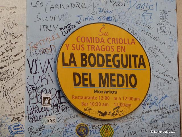 La Havane  - la Bodeguita del Medio