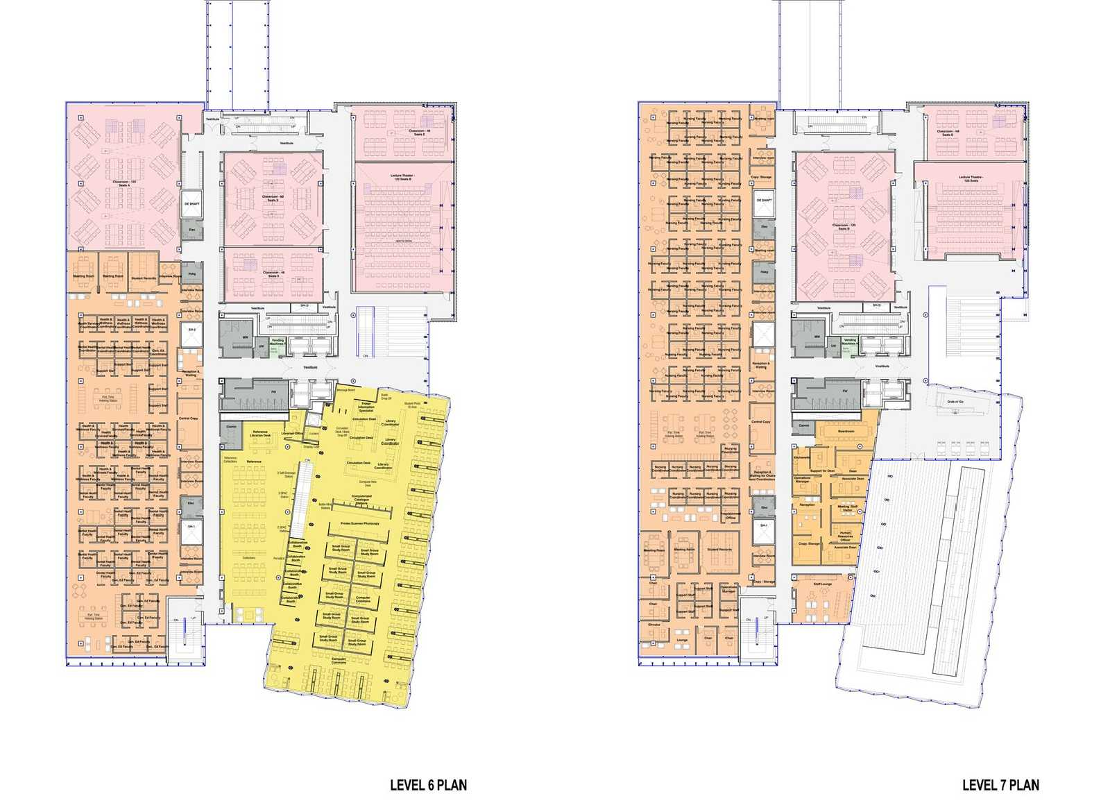 George brown college waterfront campus by stantec kpmb for Floor plans brown university