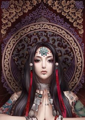 Ilustraciones de Hermosas Chicas Chinas Por Zhang Xiao