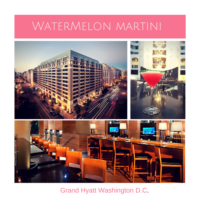 Grand Hyatt Washington D.C. shares watermelon martini recipe and they have a great family travel package that includes museum admission.
