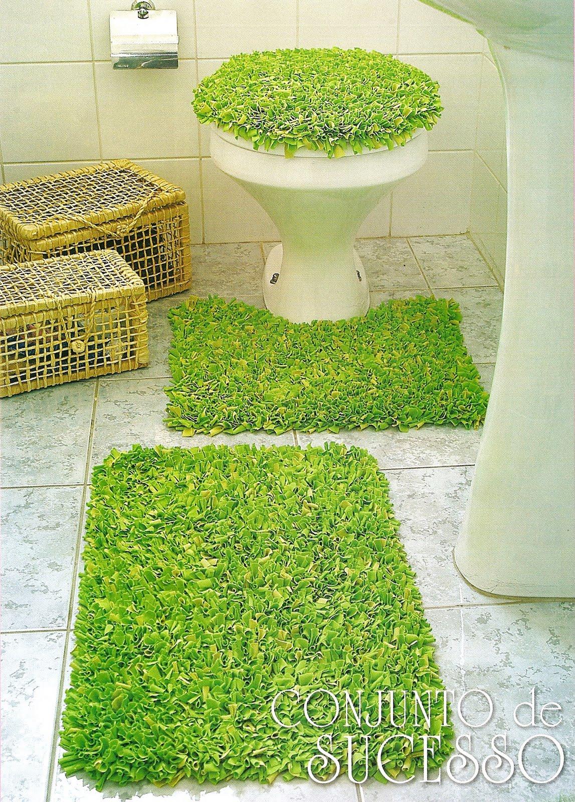 Criação em Arte: Jogo de Banheiro : amarradinhos #457E21 1147 1600