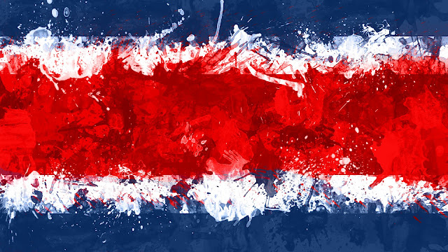 Bandera de La República de Costa Rica
