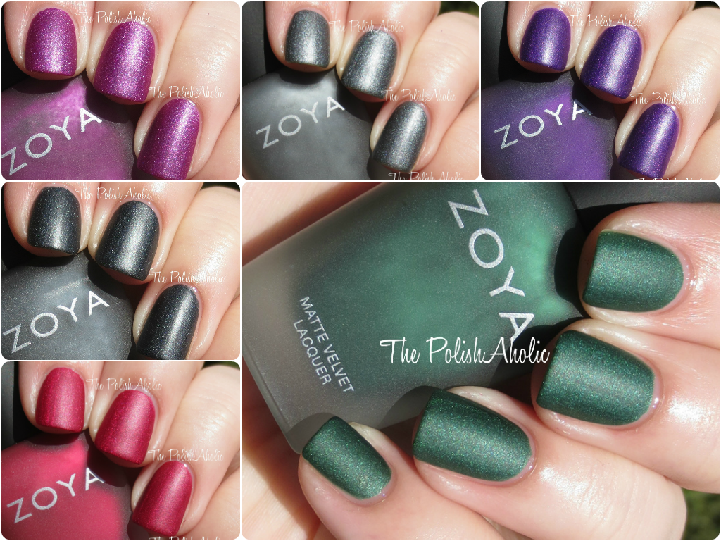 The polishaholic zoya mattevelvet collection swatches review formula wise all 6 were good across the board they have nice formulas that are easy to control and all are nice and opaque you do have to be careful to reheart Gallery