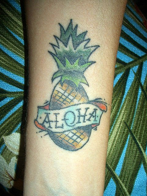 Tattoosclan Cute Pineapple Tattoo