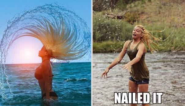 Волосы в воде