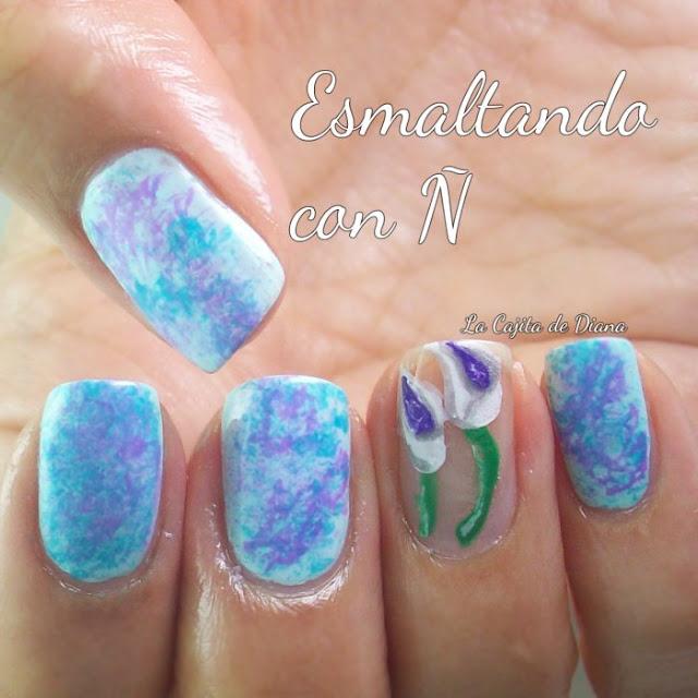 esmaltandoconñ-saranwrap-nails