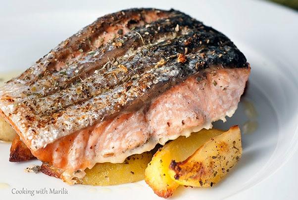 ricetta salmone al forno con patate