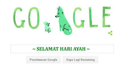 Google Doodle peringati Hari Ayah 2015