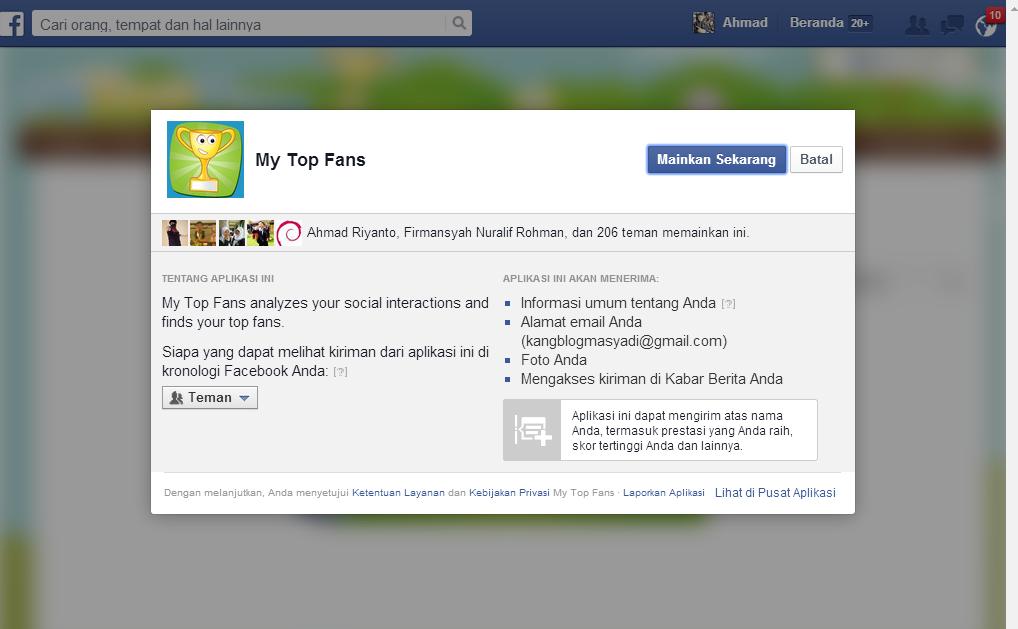 Cara Cerdas Mengetahui Siapa yang Sering Melihat facebook Kita 2014