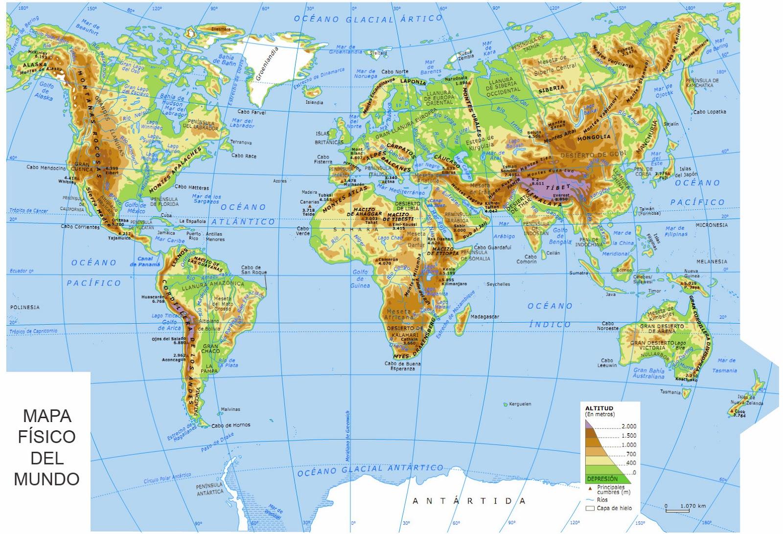Mapas del Mundo Físico