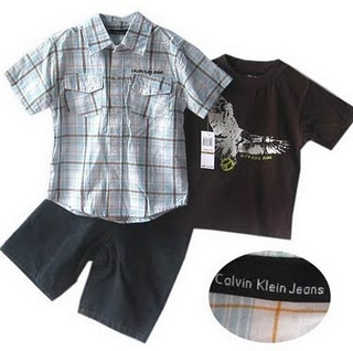 Kids Apparels Outlet: CALVIN KLEIN 3 PCS SET