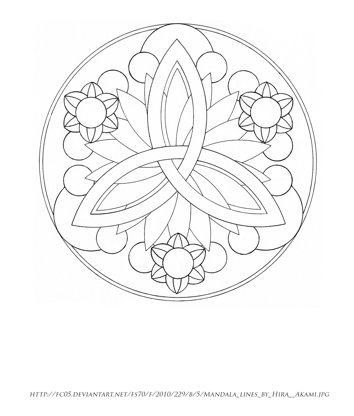 Free Coloring Pages Of Celtic Motherhood Knot