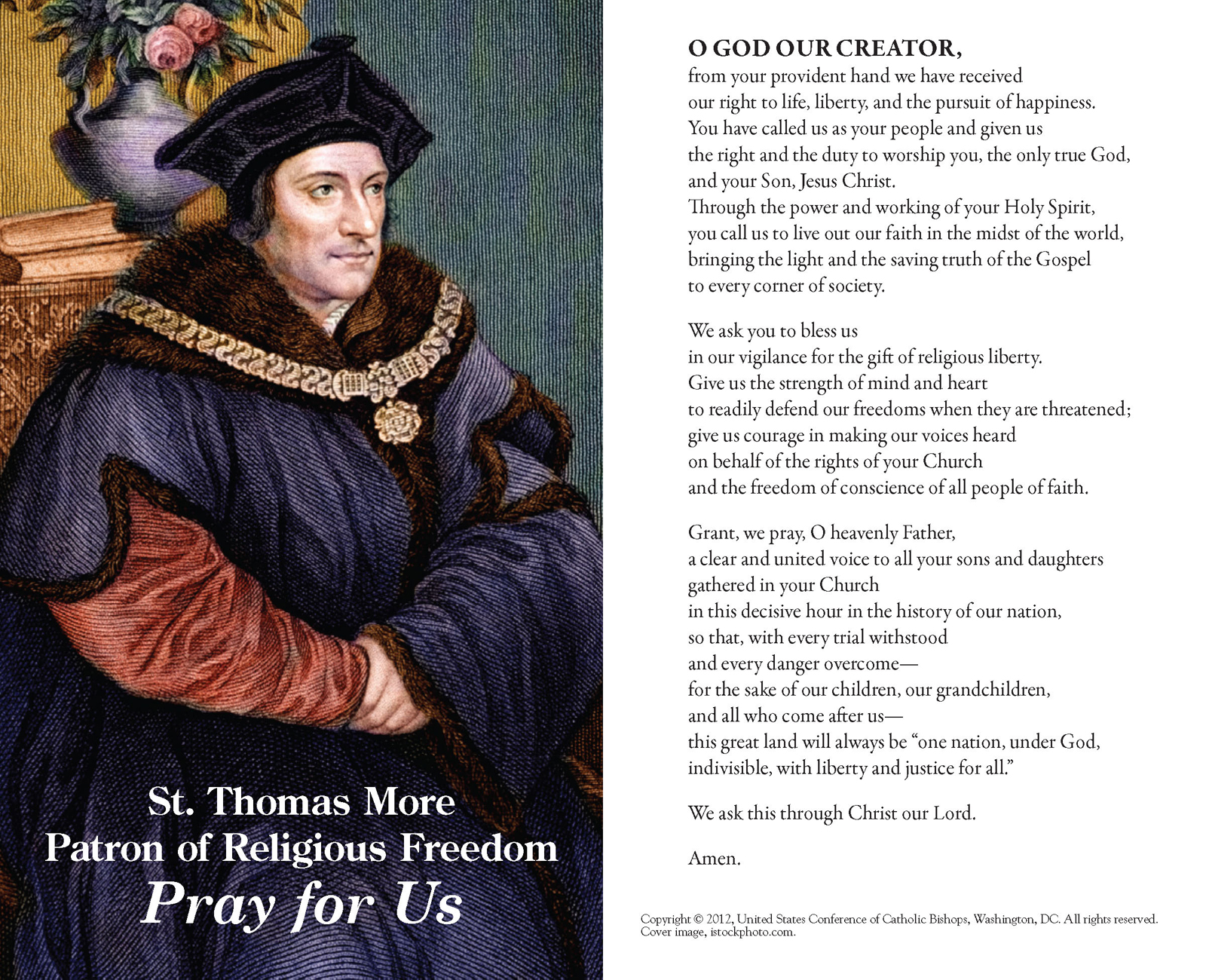 The fortnight for freedom saints john fisher and thomas more