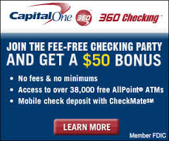 CapitalOne 360 Checking Bonus