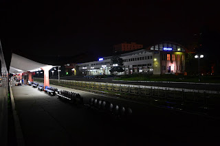 Brasov train station at night