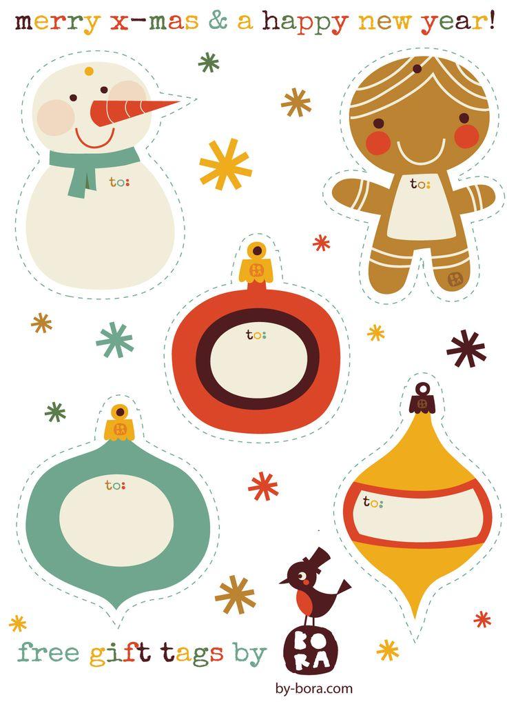 Etiquetas imprimibles para los regalos navideños - Cuentos de Amatxu