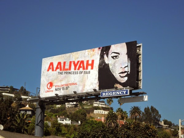 Aaliyah Lifetime movie billboard