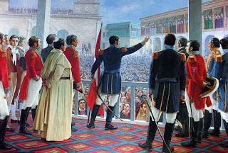 San Martín proclamando la Independencia del Perú | Autor Juan Lepiani (1904)