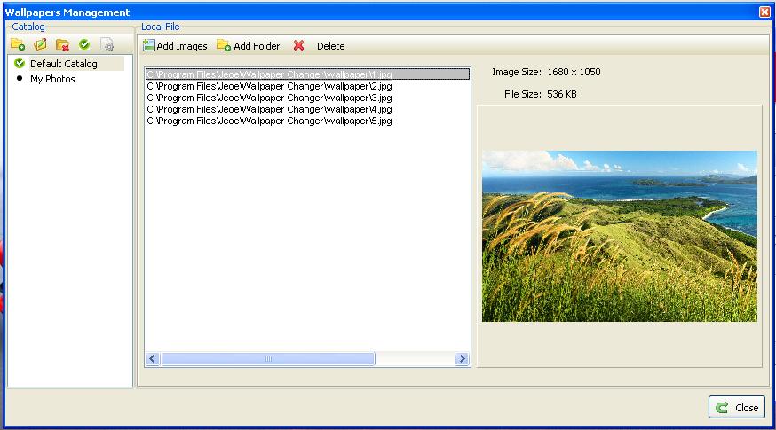 برنامج مجاني لتبديل وتغيير خلفيات سطح المكتب بشكل تلقائي Jeoe Wallpaper Changer 1.1.2