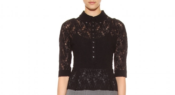 Zara Lace Cape Blouse 84