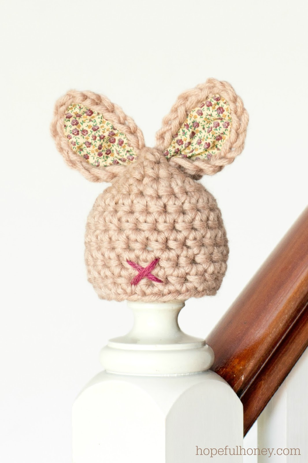 Crochet Bunny Ears Hat Pattern : Hopeful Honey Craft, Crochet, Create: Newborn Bunny Hat ...