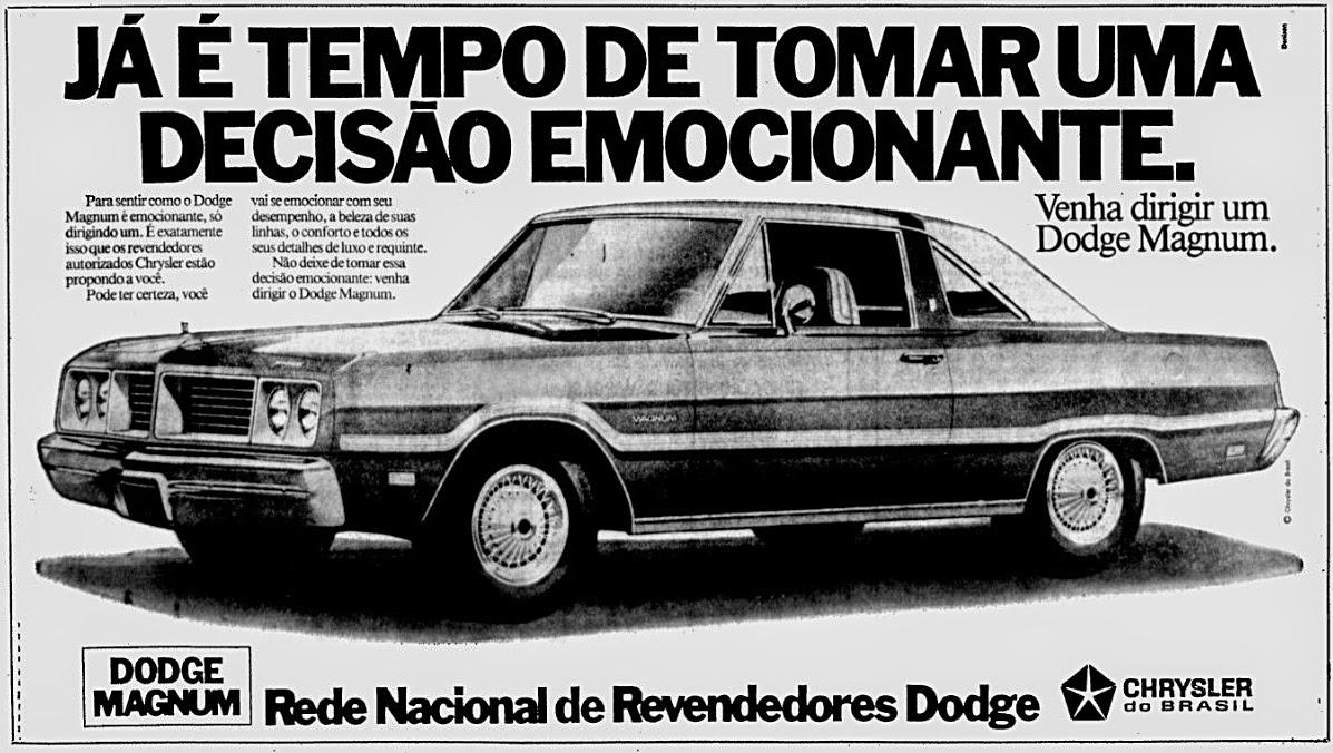 Dodge. propaganda anos 70. propaganda carros anos 70. reclame anos 70. Oswaldo Hernandez.
