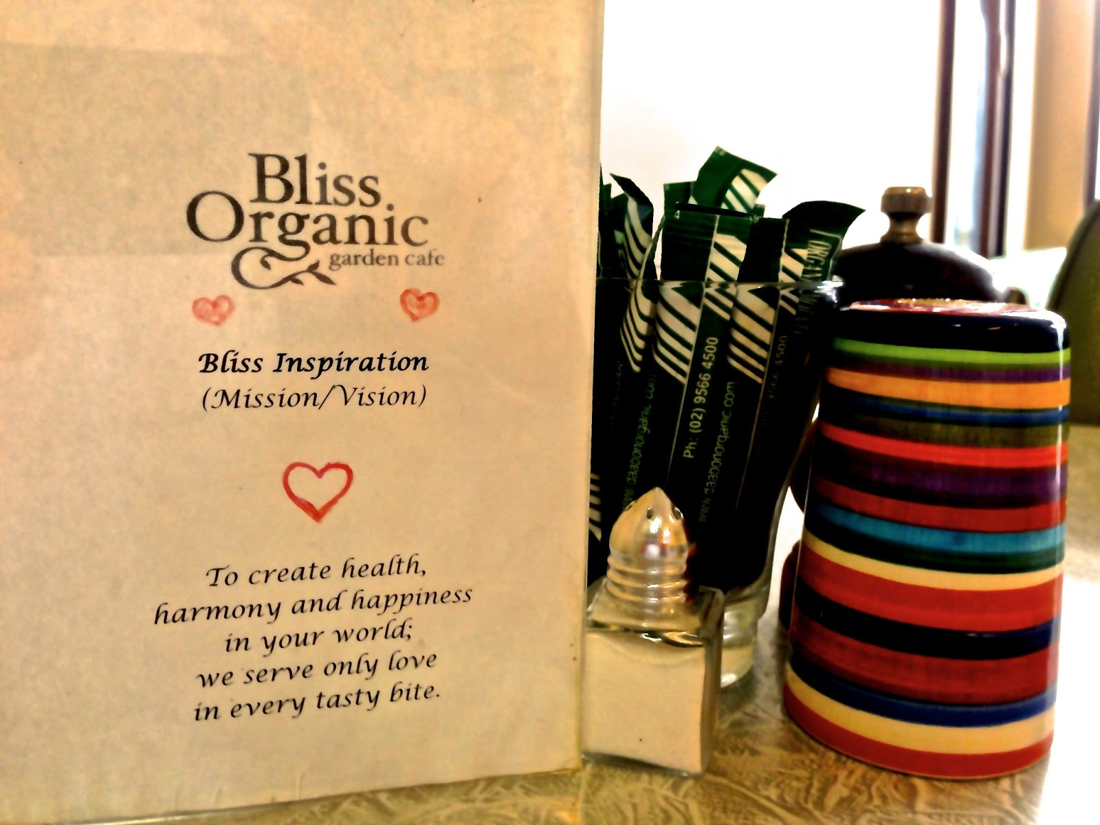 Mission statement - Bliss Organic Cafe, Adelaide