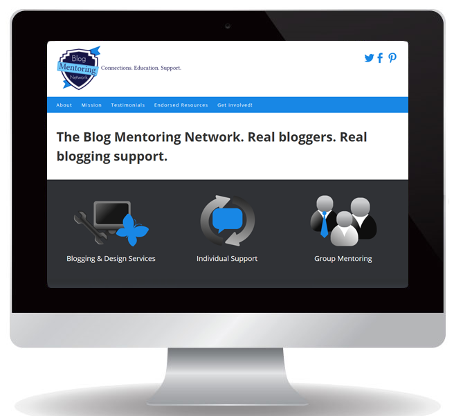 Blog Mentoring Network website