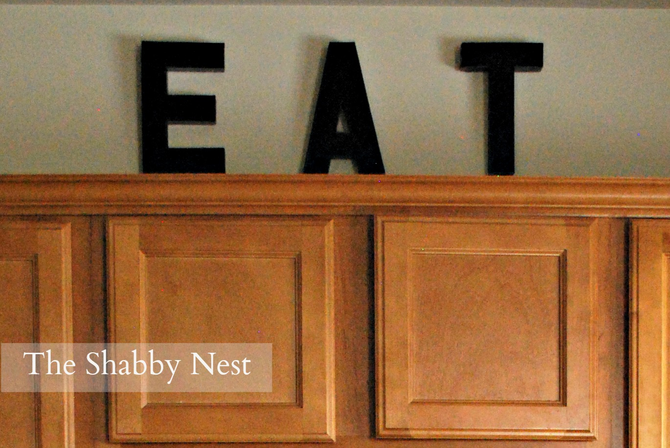 E A T: How I Created A Kitchen Focal Point Out Of Cardboard Letters~
