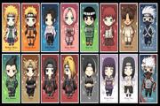 لعبة ناروتو والشخصيات المتشابهة Naruto characters Matching