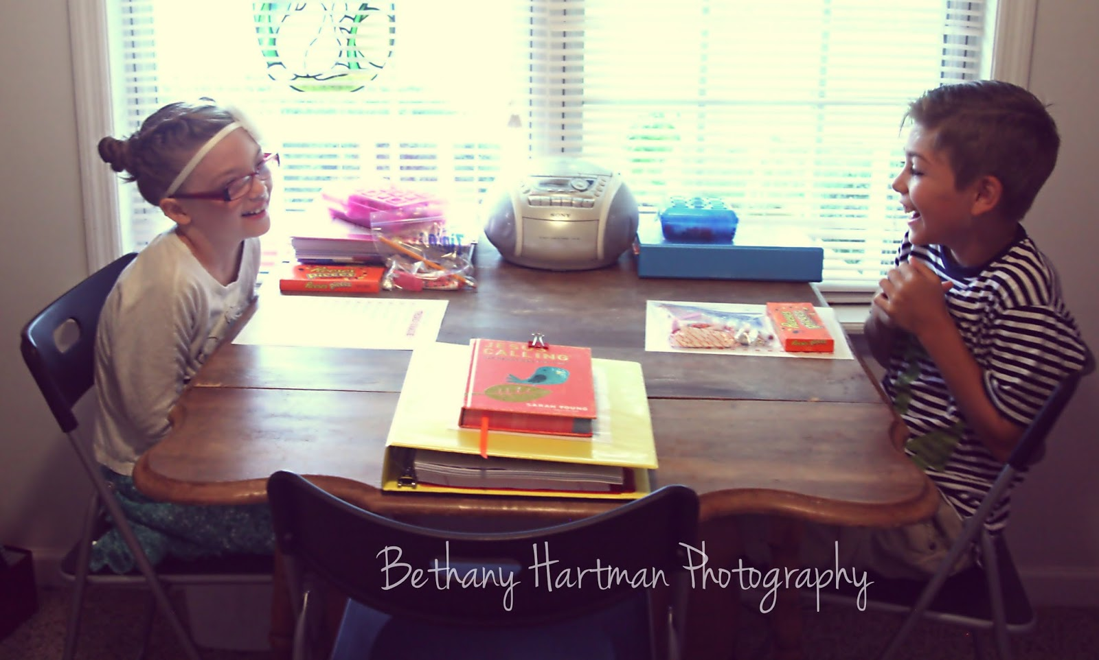 Harts For Him: First Day of School-Heart of Dakota!