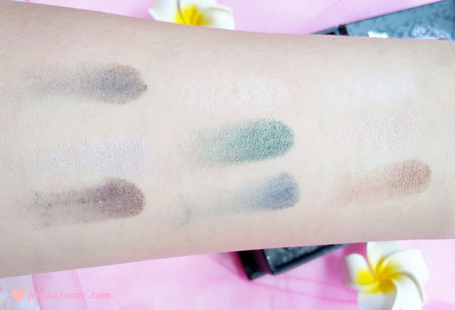 Too Faced Smoky Eye Shadow Collection Review Pinkuroom Swatch