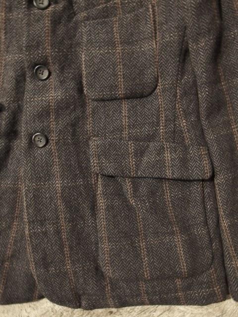 fwk by engineered garments ldt jacket in grey wool hb/windowpane