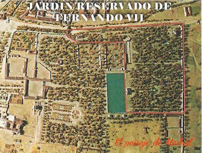 Situacion y extensión del Reservado de Fernando VII