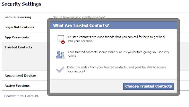 طريقة استرجاع وحماية حسابك على الفيس بوك 2013 من خلال الاصدقاء
