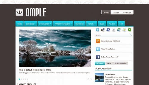 Ample - Free Blogger Template
