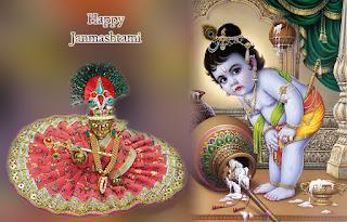 Krishna makhanchor janmashtami latest images