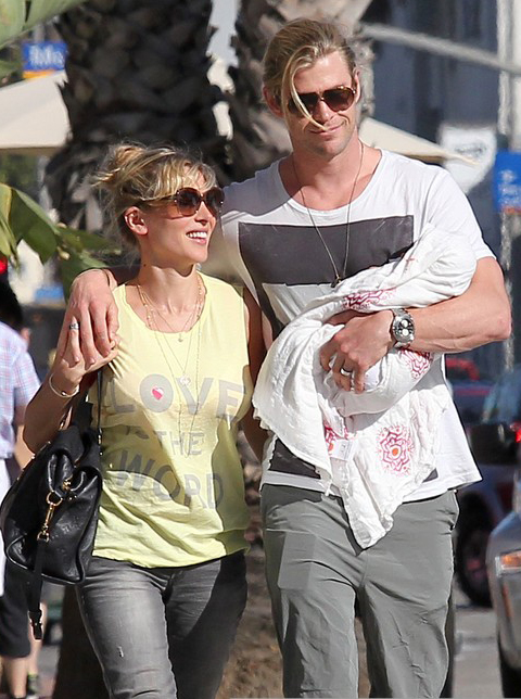 Chris Hemsworth & Elsa Pataky Enjoy A Family Lunch » Gossip | Chris Hemsworth | Elsa Pataky
