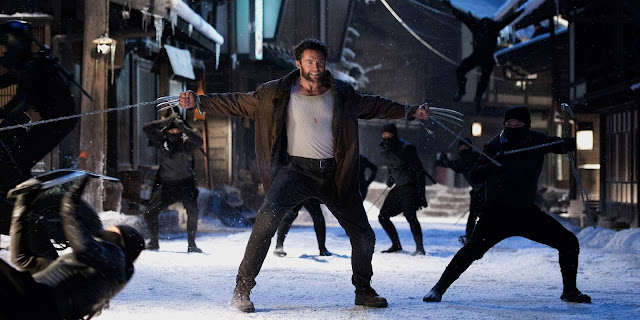 Hugh Jackman ninja fight in the Wolverine