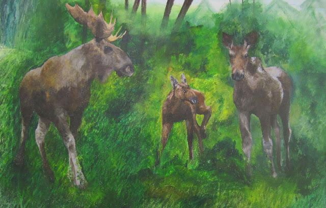 hirvet- osa seinämaalausta, 2012