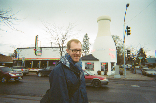 milk bottle building in Spokane