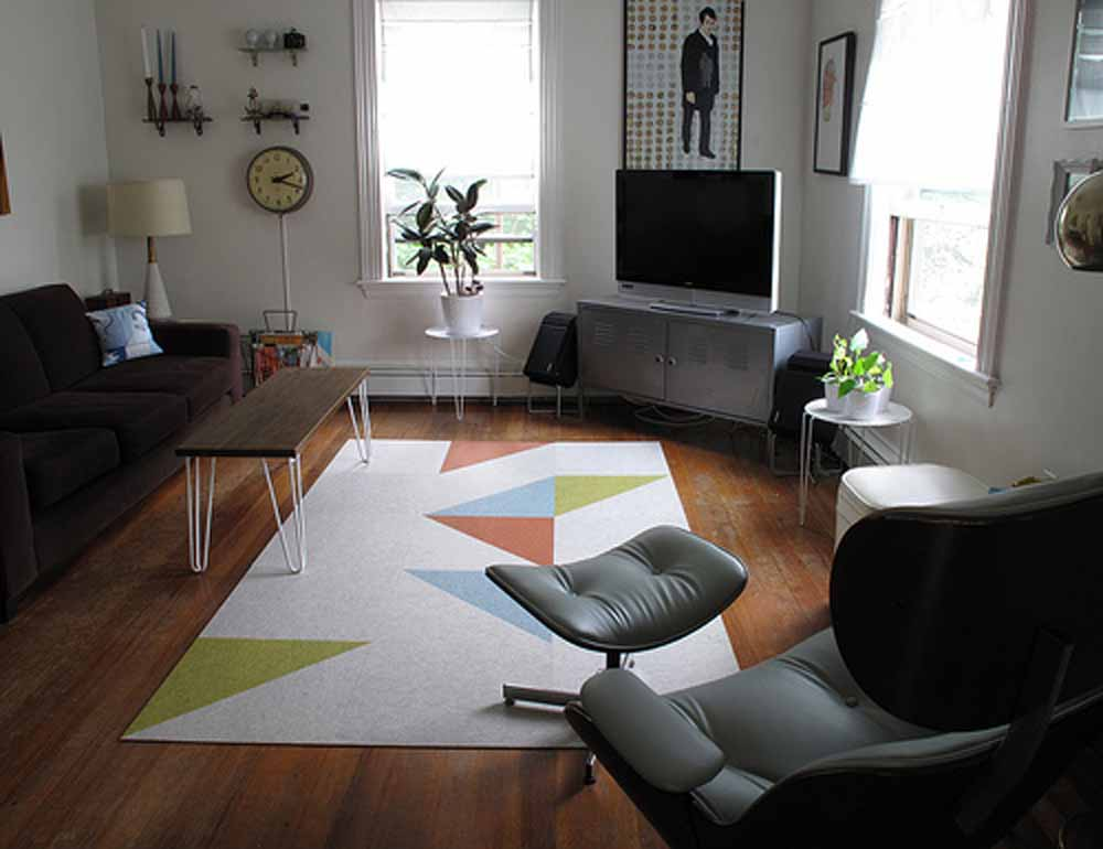 Trend awesome living room trend interior images for Area rug for small living room