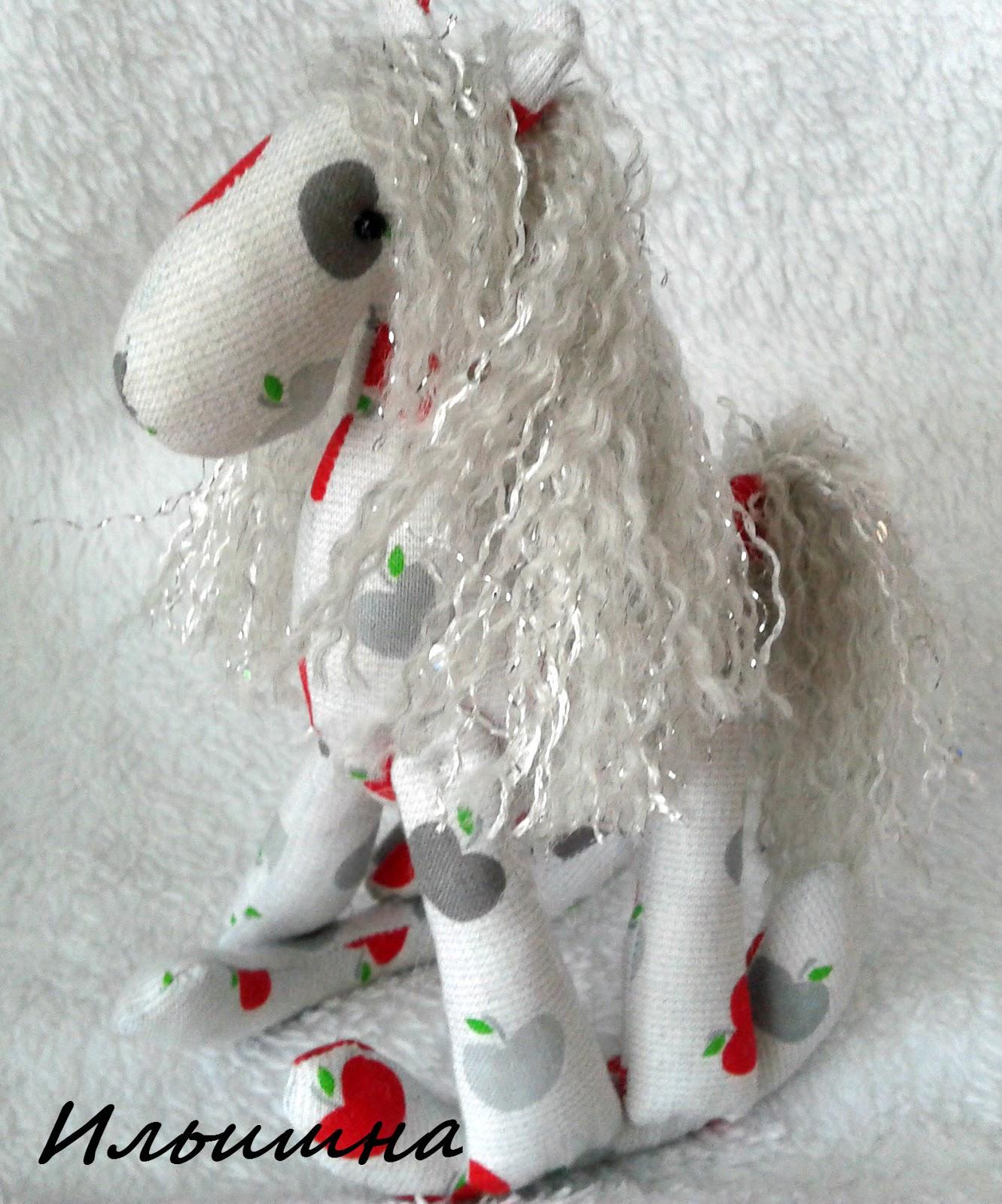 Как сделать гриву текстильной лошадки